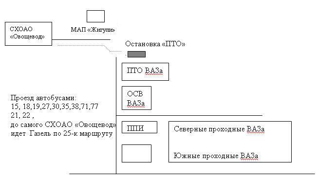 Схема проезда в СХОАО «